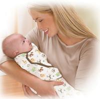 sobres de bebé recién nacido al por mayor-15 estilos envoltura de envoltura del bebé envoltura suave para productos recién nacidos manta envuelta Flamingo impresión de dibujos animados de lana saco de dormir infantil
