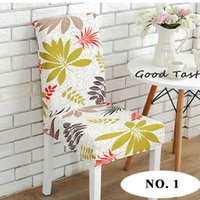 Wholesale room chair covers - Home Stretch Chair Cover, Universal Polyester Spandex Lycra Chair Slipcovers Elastic Removable Hotel Restaurant Dining Room Stool Covers