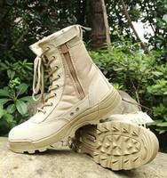 pattern pink rubber shoes großhandel-Große Größe 37--46 Männer Kampfstiefel Schuhe Männlichen Taktiken Stiefel Wüste Schuhe Camouflage Militärische Taktische Stiefel Sapatos Masculino