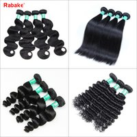 Wholesale loose deep hair extensions - Brazilian Virgin Human Hair Bundles Body Wave Straight Loose Wave Deep Wave Human Hair Extensions 8A Peruvian Malaysian Indian Weave Deals