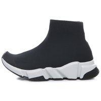 Wholesale girl shoes boots pink online - Fashion Baby Kids Shoes Socks Boots Children Slip On Casual Flats Speed Trainer Sneakers Boy Girl High Top Running Shoes