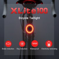 Wholesale led bike tail light - Xlite100 Smart Bike Bicycle Taillight USB Rechargeable Led Cycling Tail Light Auto Start Stop Brake Sensing IPx6 Waterproof