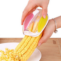 Wholesale corn gadget resale online - Safe Corn Thresher Grain Separator Remover Gadgets Sheller Easy Corn Stripper Peeler Kitchen Cooking Tools NNA475