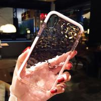 diamant-silikon-etuis für iphone großhandel-Hybrid Shockproof Clear Diamond Weiche Silikon-Kasten-Abdeckung für iPhone X XS XS Max 7 8 Plus