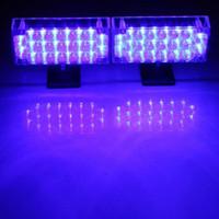 yanıp sönen ızgara ışıkları toptan satış-DC 12 V 220 Lümen 2x22 LED Uyarı Acil Uyarı Işık Grill Strobe Flaş Lambası Mavi / Kırmızı Güvenlik Strobe Işık