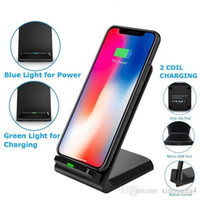 mobile phone charging stands Australia - 10W Wireless QI Fast Charger Charging Stand Holder Bracket for Mobile Smart Phone Universal