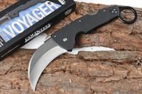 karambit de alta calidad al por mayor-De calidad superior del acero frío CA93003 Karambit del cuchillo 440C de la hoja de satén Blacl la manija del G10 Hoja plegable cuchillo de la garra Liner Lock