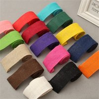 Wholesale wholesale linen rolls - DIY Ribbon Colour Linen Roll Handmade Clothing Accessories Wrapping Jute Festive Party Supplies Natural Materials Hot Sale 2 8tn V