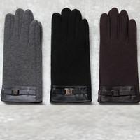 ingrosso guanti di sera lunghezza gomito nero-1 paio Moda Guanti / Guanti da uomo Guanti / Guanti da uomo caldi invernali nuovi Guanti da viaggio in velluto