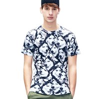 lustige hundet-shirts großhandel-Hund gedruckt Kurzarm T-shirt Männer lustige Sommer Casual Tee Husky T-shirt Größe M-2XL