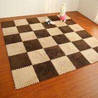 детские кроватки оптовых-30x30cm Children Foam Carpet Living Room Floor mats anti-Slip cushion Room carpets  pad bedroom puzzle mat tapetes