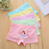 Wholesale girl boxers - Maternity Children Horse Girl underwear Boxes Panties Sweet Princess Girl shorts Cotton Regenerated fibre 2018