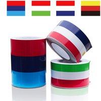 ko großhandel-Car-Styling-Aufkleber Italian Französisch Deutschland Flagge Drei-Farben-Streifen-Aufkleber Autoaufkleber Auto-Dekoration-Aufkleber-Band 2M