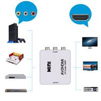 commutateur hdmi achat en gros de-Le plus récent convertisseur HDMI vers AV HD vidéo HDMI vers RCA AV / CVSB vidéo L / R 1080P HDMI2 sortie convertisseur de convertisseur adaptateur convertisseur