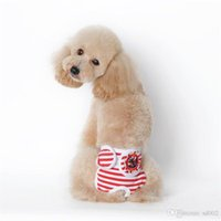 Wholesale extra large dog diapers resale online - Dog Stripe Physiological Pants Dogs Comfort Trousers Gentle Style Teddy Clothing Pets Supply Ropa Rara Perros hp ii
