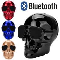 mega stereo toptan satış-SıCAK Kafatasları Hoparlörler Bluetooth Kablosuz Hoparlörler Kaplama Perakende Paketi ile Ghosthead Kemik Bluetooth Mega Bas Stereo Pa ...