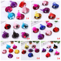 Apparel Accessories New Fashion Ribbon Flower Cute 5cm Party Cap Hairpins Festival Hat Hair Clip With Fur Children Hair Accessories Baby Hair Clip Complete In Specifications
