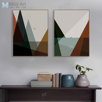 Wholesale deco posters for sale - Group buy Modern Abstract Minimalist Mountain Sea Posters and Prints Vintage Retro Wall Art Picture Nordic Room Home Deco Canvas Painting