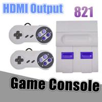 ingrosso dual console-Famiglia Console di gioco portatile Dual Gamepad TV HDMI Video 8Bit Console di gioco retro Store 821 Giochi classici per bambini Regalo per bambini