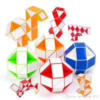 Wholesale 3d snake toy resale online - Mini Magic Cube New Hot Snake Shape Toy Game D Cube Twist Puzzle Toy Gift Random Intelligence Learning Toys Supertop Gifts M605