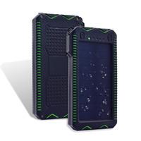 baterias isqueiros venda por atacado-20000 mah banco de energia solar portátil led lanterna externa carregador de bateria solar powerbank com isqueiro elétrico para telefone inteligente
