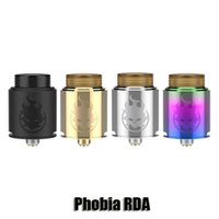 Wholesale Mm Thread - 100% Original VandyVape Phobia RDA 24 mm Diameter Rebuildable Dripper Atomizer Bottom SIde Airflow Tank With 810 Thread Drip Tip