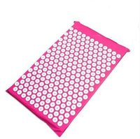 акупунктурные коврики оптовых-68*42cm Yoga Massager Mat Acupuncture Health Care Pain Relief Cushion For Shakti Mats Useful Acupressure Pad High Quality 32ns Z