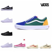 Wholesale Round Leather Lace - Original vans sneakers vans old skool vans Classic men's & women's canvas shoes Skateboarding Shoes old skool Sports shoes 2018 New Arrival