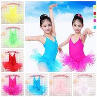 kostenlose tanzkostüme großhandel-Kindermädchen-Parteiballettkostüm-Ballettröckchen-Tanzskatekleid-Trikotrock 3-12 Jahre Baby-Ballettröckchenrock geben Verschiffen frei