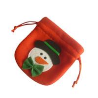 geschenk taschen band großhandel-Holiday Home Decor Ornamente Weihnachten Candy Bags mit Band für Weihnachten Kleine Geschenktüte Kinder Adult Home Decor für Kinder Geschenk