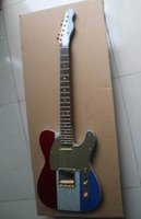 ingrosso corpo alder chitarra-Spedizione gratuita New Fendertelecaster Electric Guitar Alder Body Maple Neck In rosso / biue / grigio121218