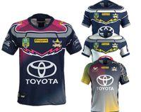 Wholesale black cowboy shirt - NRL JERSEYS NORTH QUEENSLAND COWBOYS Rugby North Queensland Cowboys NRL 2018 2019 Rugby Jersey shirts size S - 3XL