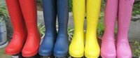 Wholesale tall rainboots - 2018 new Tall Rain Boot Women Wellies Rainboots Ms. Glossy Wellington Rain Boots Wellington Knee Boots Fast Delivery