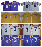 Wholesale college football jersey youth for sale - Group buy LSU Tigers Jersey Men Youth kids Odell Beckham JR Leonard Fournette Derrius Guice Tyrann Mathieu College football jerseys