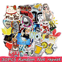 Wholesale Stickers For Room Decor - Diy stickers posters wall stickers for kids rooms home decor sticker on laptop skateboard luggage wall decals car sticker 30 pcs