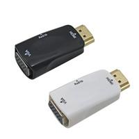 xlr gold venda por atacado-Macho para fêmea para hdmi para vga conversor com cabo de áudio para pc portátil tablet suporte 1080 p hdtv adaptador