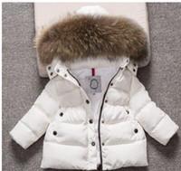 kleinkinder mäntel mädchen großhandel-Nagelneue Kinder, die Winter-Mantel-Kleinkind-Jungen-Mädchen-warmen mit Kapuze Outwear Baby-Winter-Mantel kleiden Freies Verschiffen