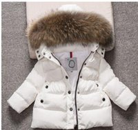 abrigos para niños pequeños al por mayor-Ropa para niños a estrenar Abrigo de invierno Toddler Boy Girls Cálido con capucha Outwear Baby Boy Abrigo de invierno Envío gratis