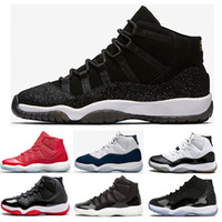 Wholesale Navy Black Shoes - (with box ) 11 PRM Heiress Black Stingray Men Women Basketball Shoes Gym Red Chicago Midnight Navy WIN LIKE 82 96 sports shoes Sneakers