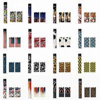 ingrosso carta da imballaggio logo-Adesivo per Juul OEM Wraps per Juul Kit 3M Personalizzato Paper Cover Sticker per sigaretta elettronica con logo per Juul Cartridges Pods