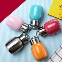 ingrosso mani anelli per ragazza-Tazza di conservazione del calore sottovuoto in acciaio inox 5 colori per bottiglia di acqua studente ragazza con anello a mano
