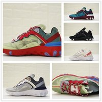 Wholesale transparent lace fabric - 2018 New UNDERCOVER x Upcoming React Element 87 Reactive element semi-transparent series avant-garde running shoes 36-45