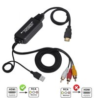 conversor de hdmi analógico venda por atacado-HDMI para RCA / AV Cabo Conversor Construído em Conversor Hassle Free - Converte o sinal HDMI Digital para Analógico RCA / AV para TV / XBOX One / XBOX 360 / PS4