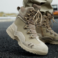 Wholesale motorcycle boots zipper - Brand Men Zipper Military Boots Special Forces Tactical Desert Combat Boots Outdoor Hiking Shoes Snow Boots