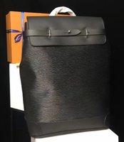 sırt çantası poşetleri gerçek deri toptan satış-Siyah çiçek renk Marka Yeni Sırt Çantaları Erkek sırt çantası 2018 BUHAR gerçek deri yüksekliği kaliteli tasarımcı M43296 hobo çanta 45 * 32 * 16 cm
