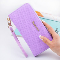 Wholesale coin clasps - Latest Women zipper Long Wallet Female Coin Purse Change Clasp Purse Money Bag Card Holders Womens Wallets And Purses phone bag
