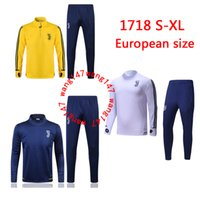 Wholesale New Train Sets - TOP quality 17 18 NEW soccer training suit 2017 2018 Higuain Dybala Marchisio Pianic tracksuit Sportswear Set skinny jogging clothing