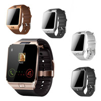 Wholesale iphone os - Bluetooth Smart Watch DZ09 GT08 Smartwatch Support SIM TF Card With Camera For IOS iPhone Android Samsung LG Phones DZ09 Watch