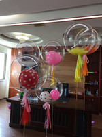 Wholesale inflatable coat - Wholesale 24 inch No Wrinkle Bobo Transparent Clear Balloons Marriage Wedding Decro Helium Inflatable Balls Kids Lovers Gifts Toys