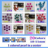 Wholesale Aa Circle - free shipping 5pcs giant 10 -11mm Colored Edison round grade AA pearl in oyster with vacuum packing 02